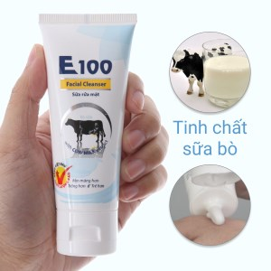 Sữa rửa mặt E100 tinh chất sữa bò 50ml