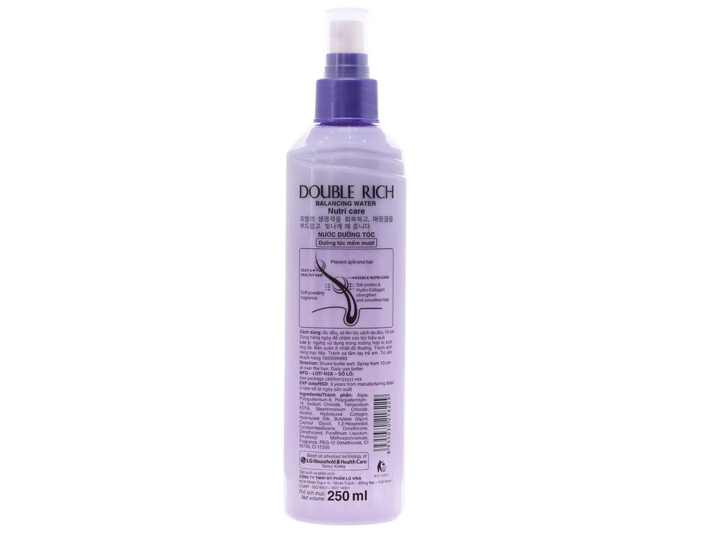 Xịt dưỡng tóc Double Rich dưỡng mềm mượt 250ml 3