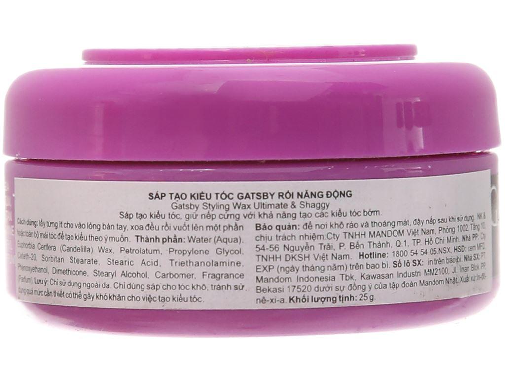 Wax vuốt tóc Gatsby Ultimate & Shaggy giữ nếp vững chắc 25g 3