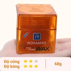 Sáp tạo kiểu tóc Romano Shiny giữ nếp cứng, bóng mượt 68g