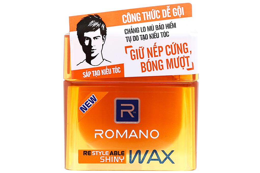 Sáp vuốt tóc Romano Shiny cứng bóng mượt hũ 68g