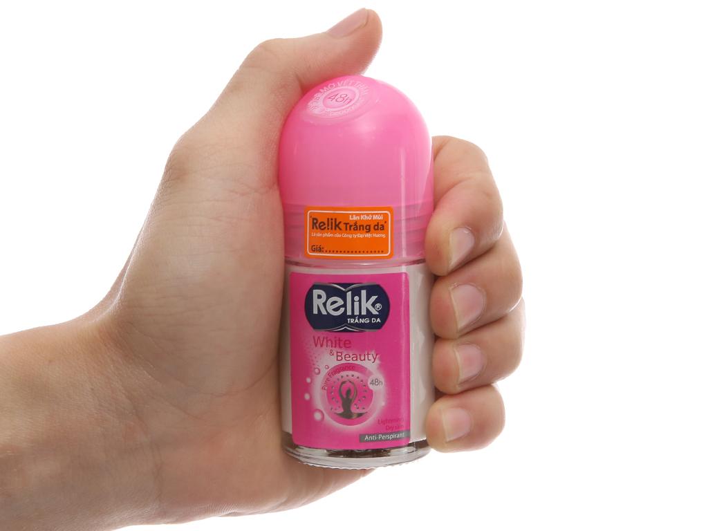 Lăn khử mùi Relik White & Beauty chai 25ml 3