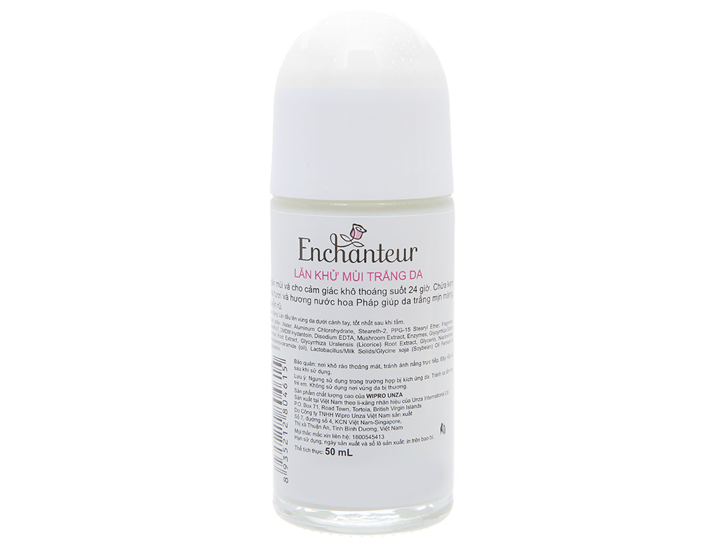 Lăn khử mùi Enchanteur White Romantic chai 50ml 3