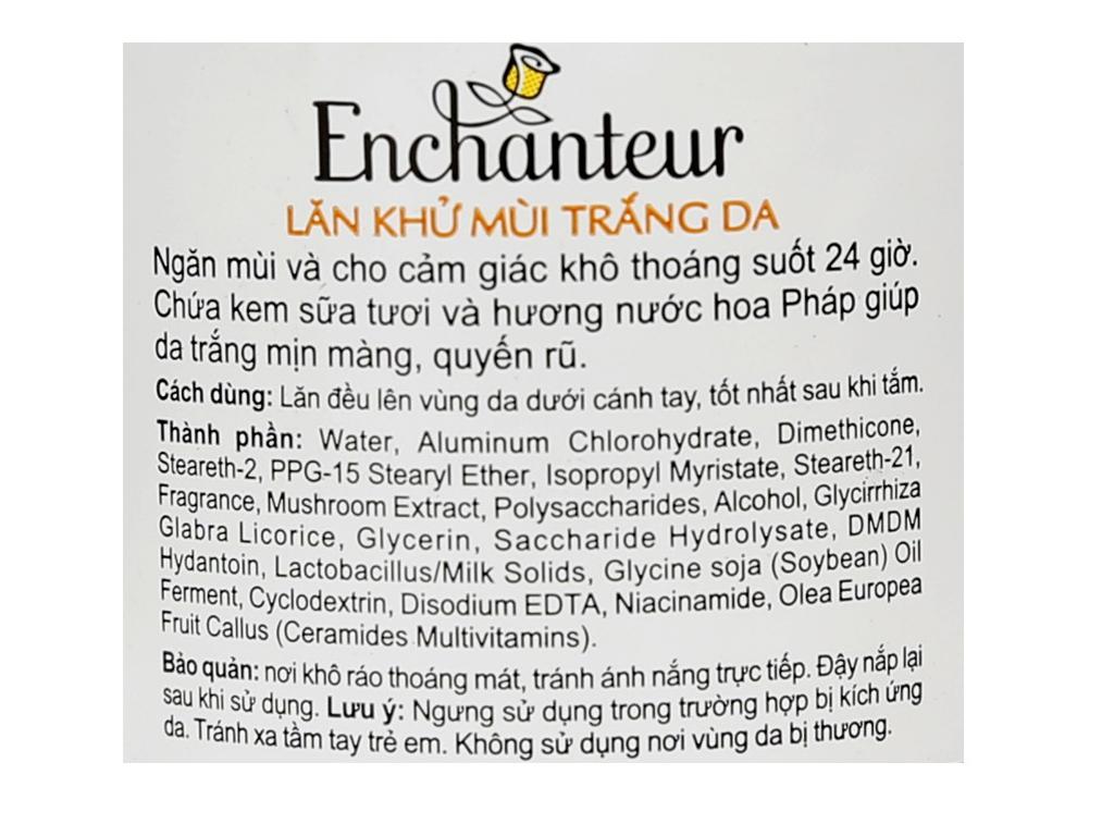 Lăn khử mùi trắng da Enchanteur Deluxe Charming chai 25ml 4