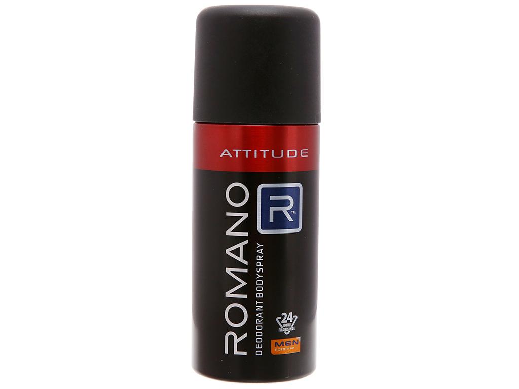Xịt ngăn mùi toàn thân Romano Attitude 150ml 1