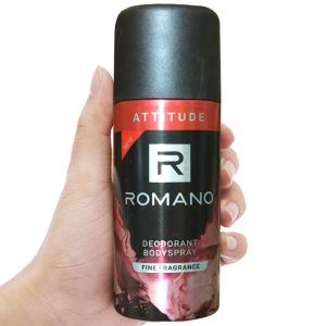 Xịt ngăn mùi toàn thân Romano Attitude 150ml