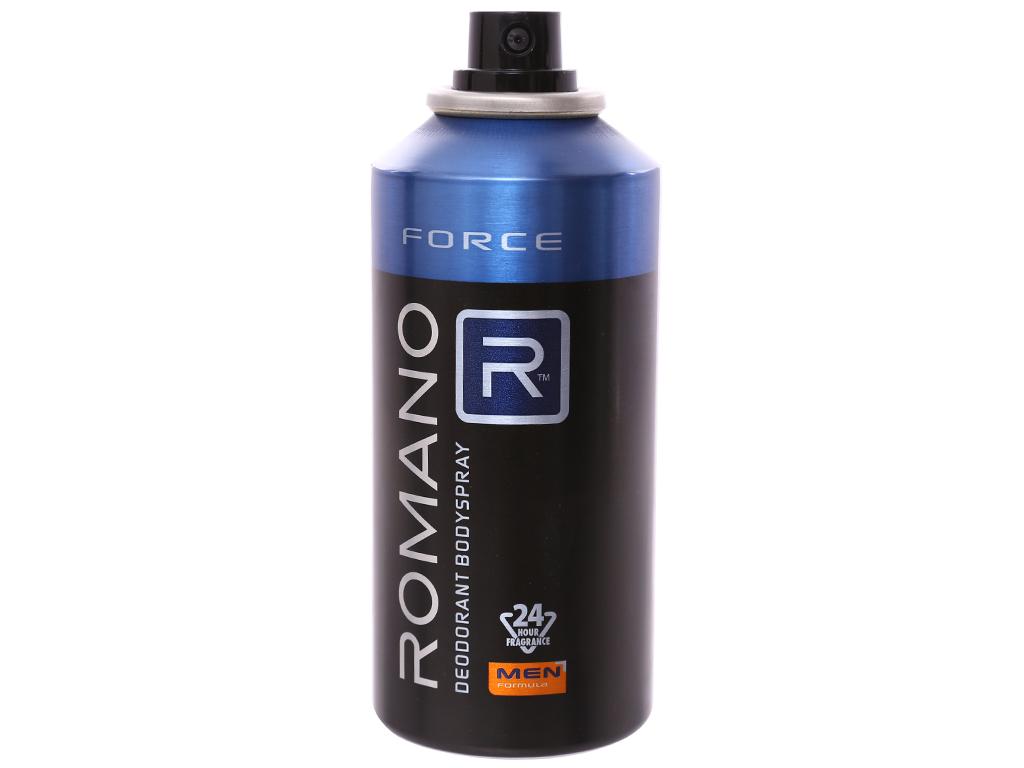 Xịt ngăn mùi toàn thân Romano Force 150ml 4