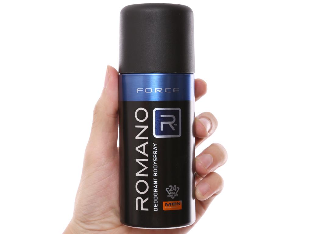 Xịt khử mùi Romano Force chai 150ml 5