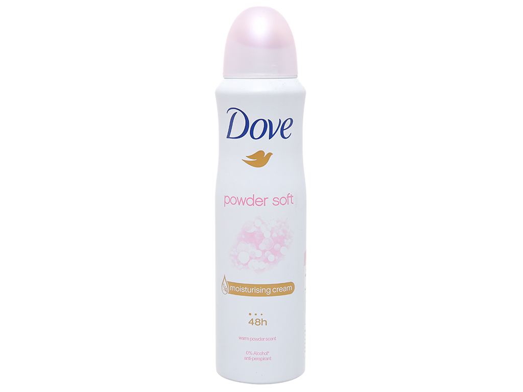 Xịt khử mùi Dove Powder Soft chai 150ml 1