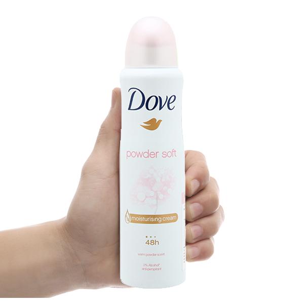 Xịt khử mùi Dove Powder Soft chai 150ml