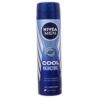 Xịt khử mùi Nivea Men Cool Kick mát lạnh chai 150ml