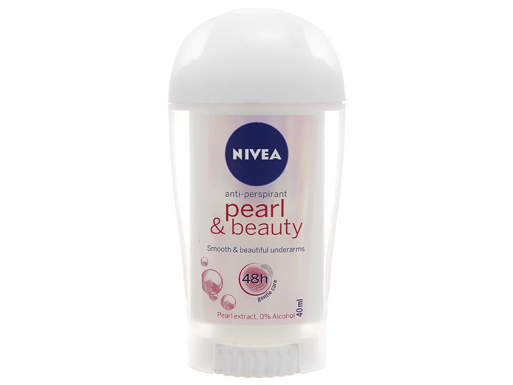Sáp khử mùi Nivea Pearl & Beauty chai 40ml 2