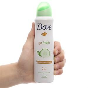 Xịt khử mùi Dove Go Fresh chai 150ml