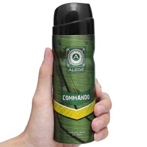 Xịt ngăn mùi hương nước hoa Aleda For Men Commando 200ml