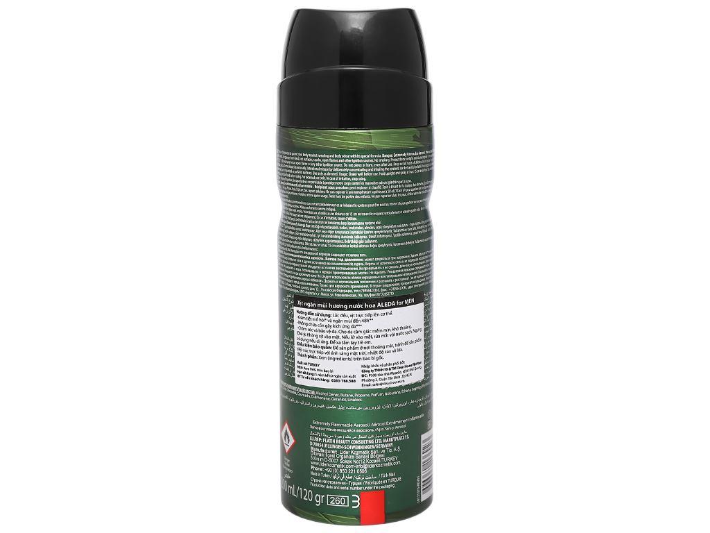 Xịt ngăn mùi hương nước hoa Aleda For Men Commando 200ml 2