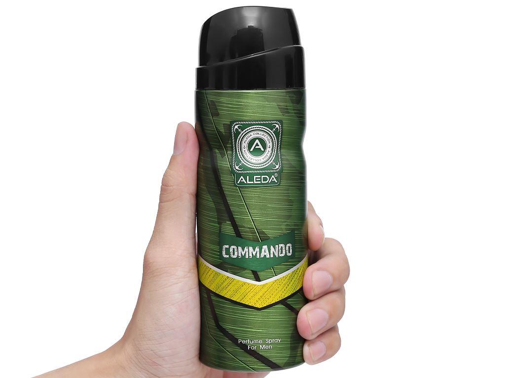 Xịt ngăn mùi hương nước hoa Aleda For Men Commando 200ml 5