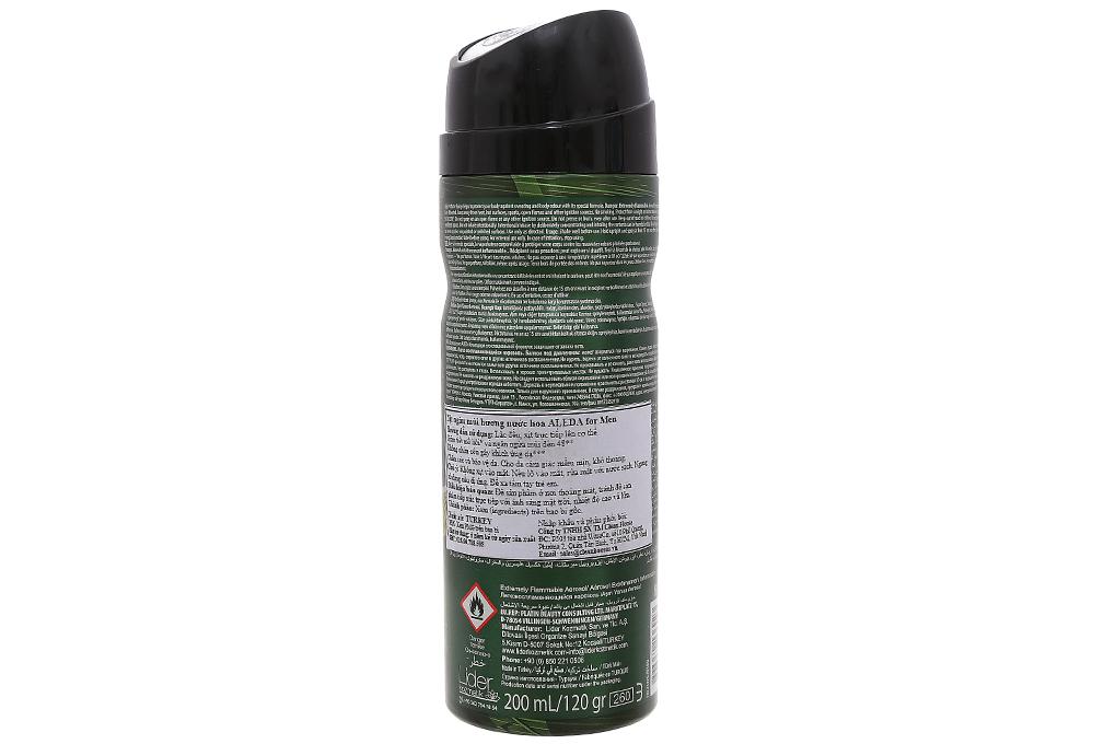 Xịt khử mùi Aleda Commando chai 200ml 3