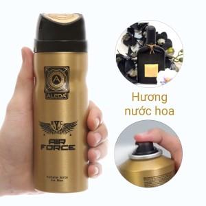 Xịt ngăn mùi hương nước hoa Aleda For Men Air Force 200ml