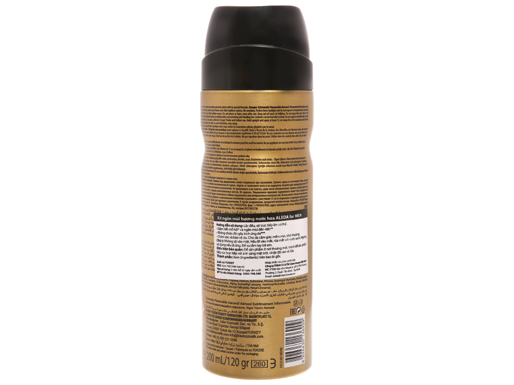 Xịt khử mùi Aleda Air Force chai 200ml 3