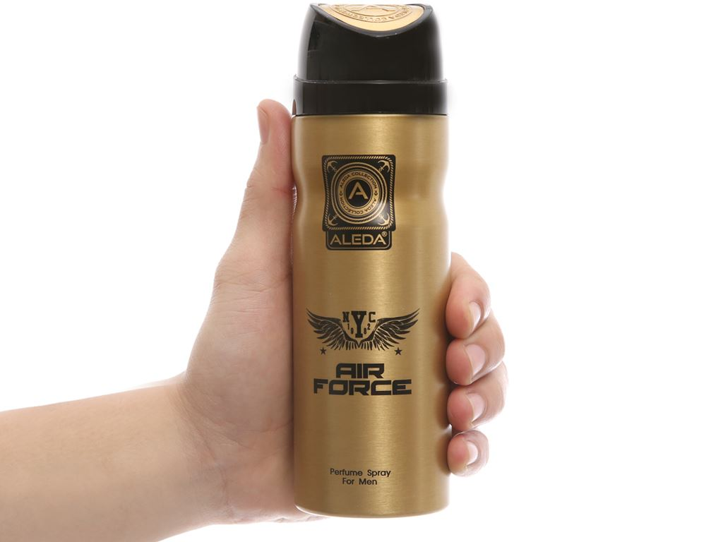 Xịt khử mùi Aleda Air Force 200ml 5
