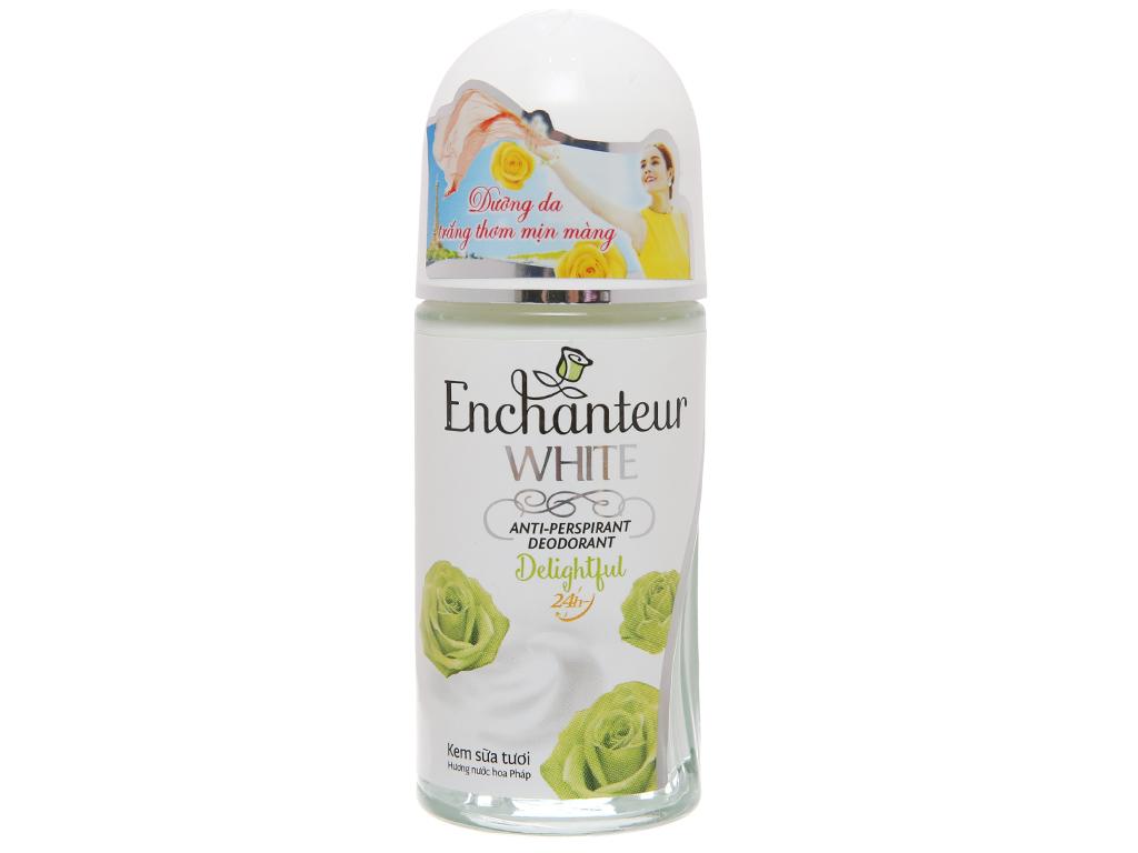 Lăn khử mùi Enchanteur White Delightful hương nước hoa chai 50ml 2