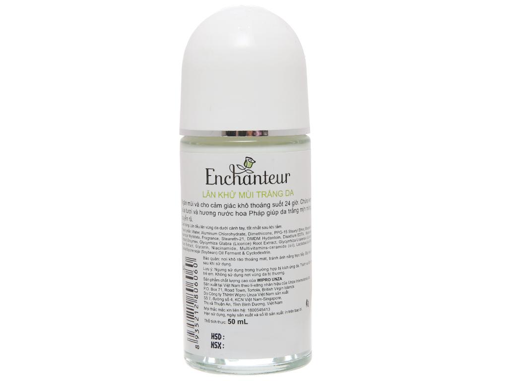 Lăn khử mùi Enchanteur White Delightful hương nước hoa chai 50ml 3