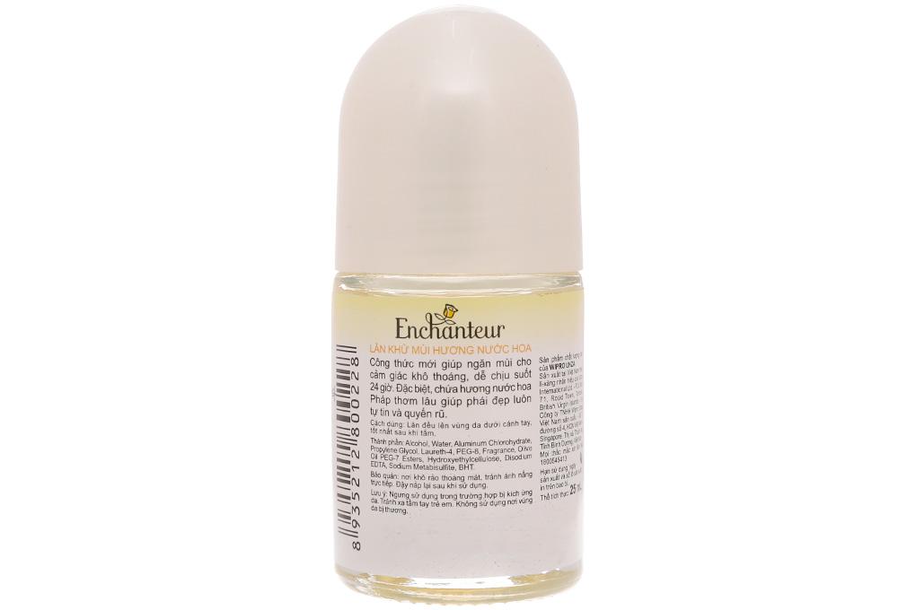 Lăn khử mùi Enchanteur Deluxe Charming chai 25ml 3