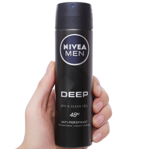 Xịt khử mùi Nivea Men Deep Dry & Clean Feel 150ml