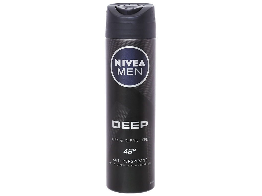 Xịt khử mùi Nivea Men Deep Dry & Clean Feel 150ml 1