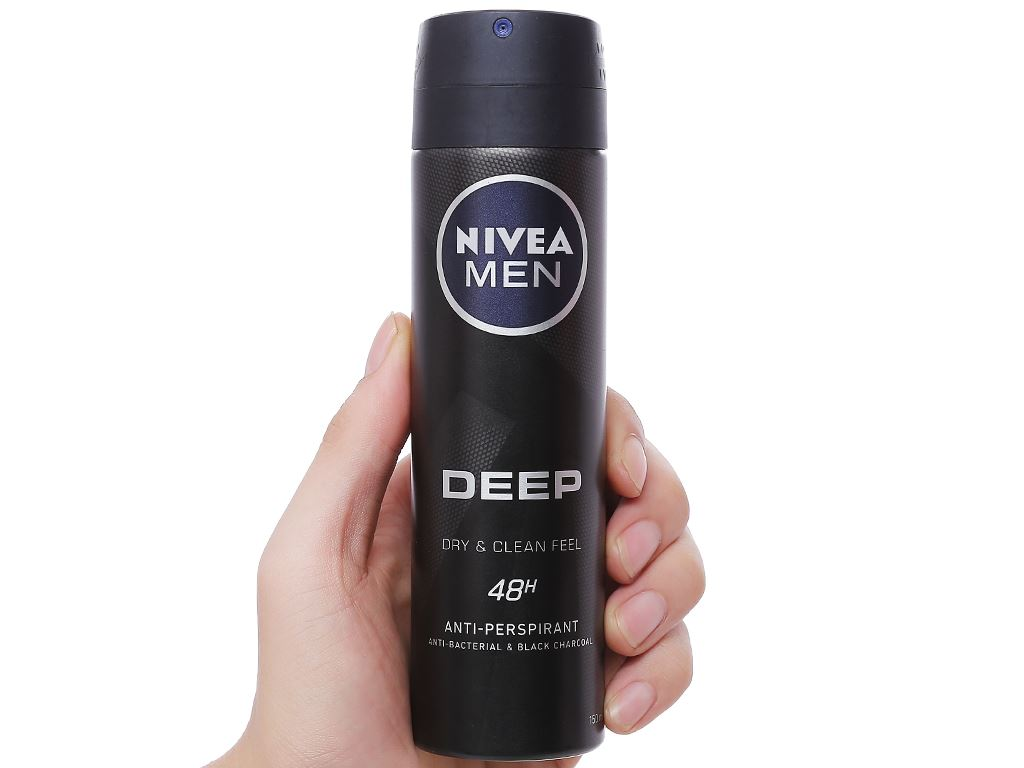 Xịt khử mùi Nivea Men Deep Dry & Clean Feel 150ml 3