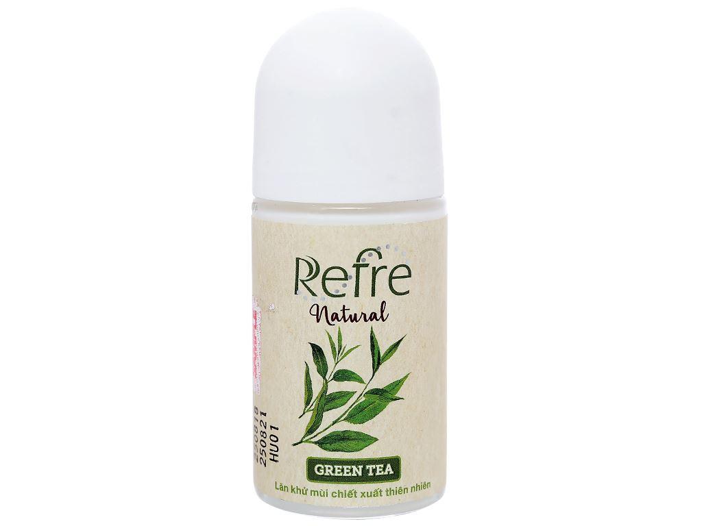 Lăn khử mùi chiết xuất thiên nhiên Refre Natural Green Tea 40ml 1