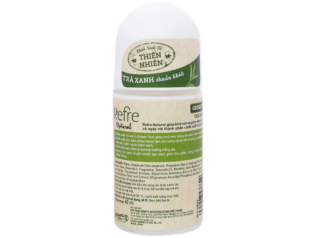 Lăn khử mùi chiết xuất thiên nhiên Refre Natural Green Tea 40ml 2
