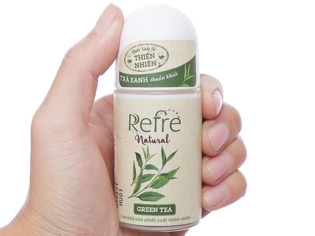 Lăn khử mùi chiết xuất thiên nhiên Refre Natural Green Tea 40ml 4