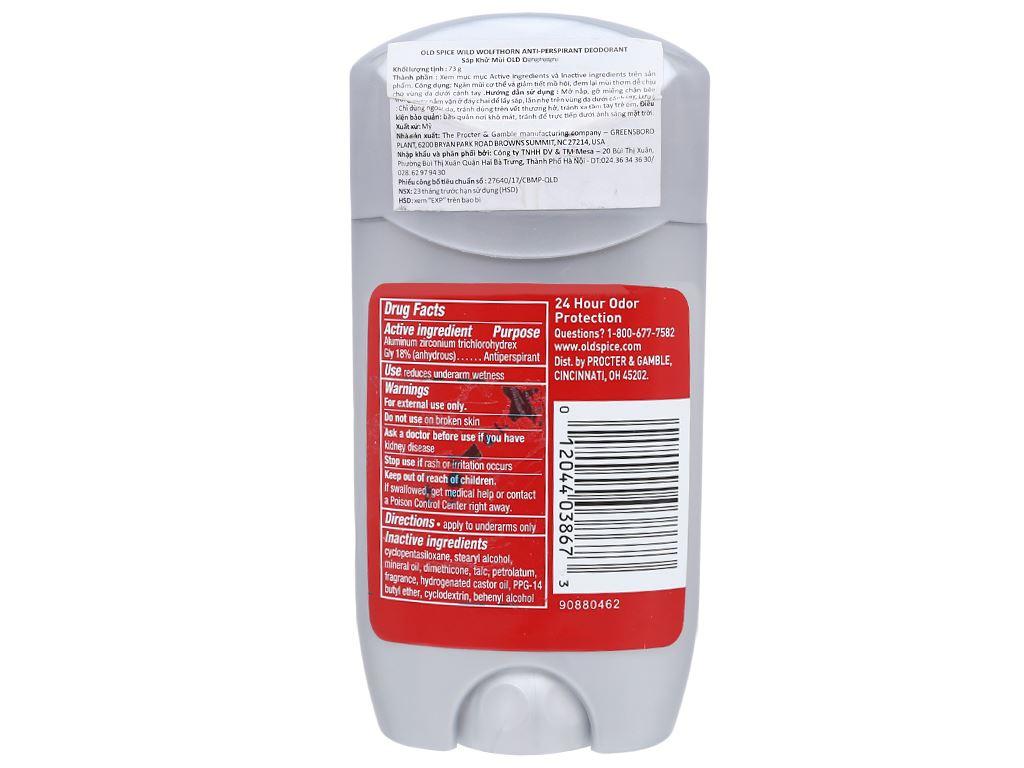 Sáp khử mùi Old Spice Hawkridge Anti-Perspirant Deodorant 73g 2