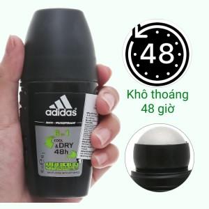 Lăn khử mùi nam Adidas 6 in 1 ngăn mồ hôi 40ml