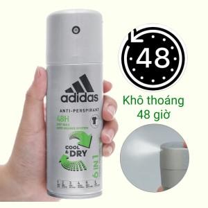 Xịt khử mùi toàn thân nam Adidas 6 in 1 ngăn mồ hôi 150ml