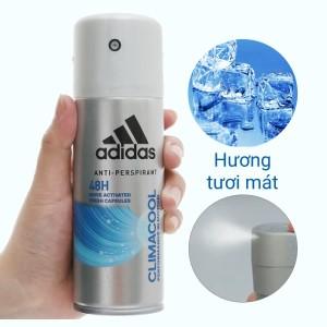 Xịt khử mùi toàn thân nam Adidas Climacool ngăn mồ hôi 150ml