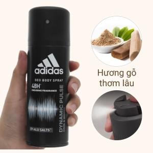 Xịt khử mùi toàn thân nam Adidas Dynamic Pulse ngăn mồ hôi 150ml