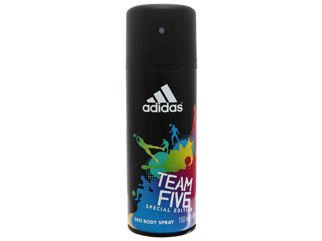 Xịt khử mùi toàn thân nam Adidas Team Five ngăn mồ hôi 150ml 1