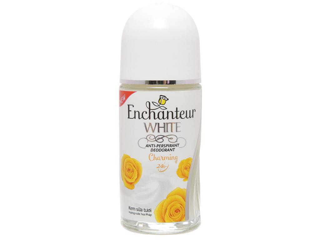Lăn khử mùi Enchanteur White Charming hương nước hoa chai 50ml 2