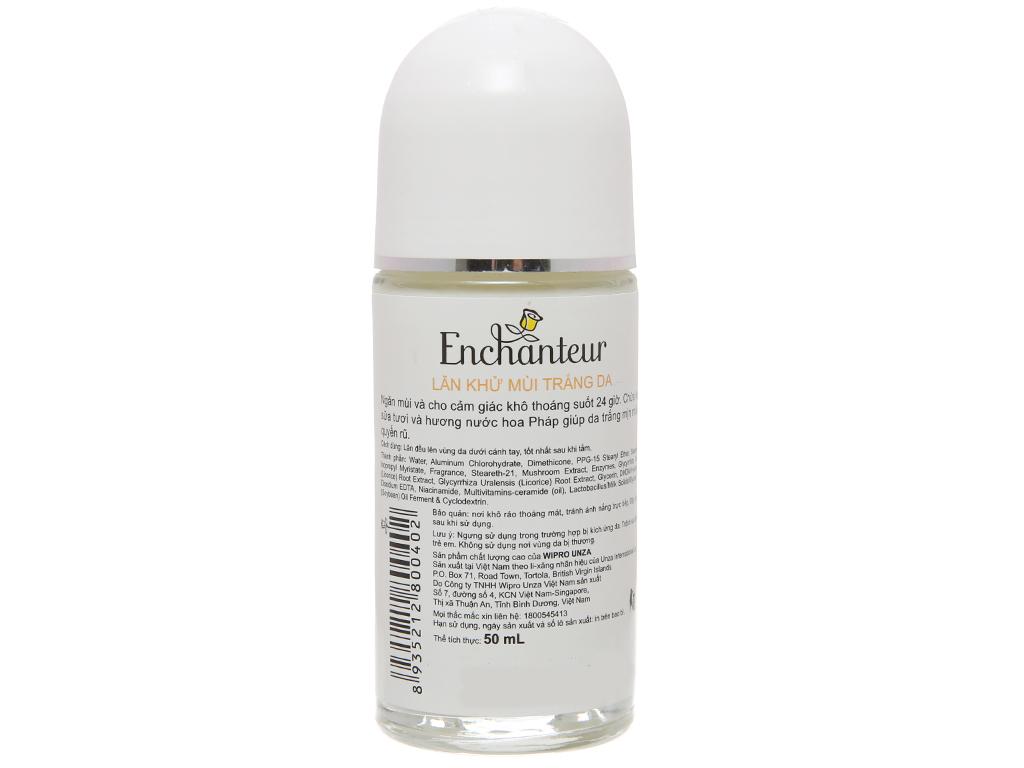 Lăn khử mùi Enchanteur White Charming hương nước hoa chai 50ml 3