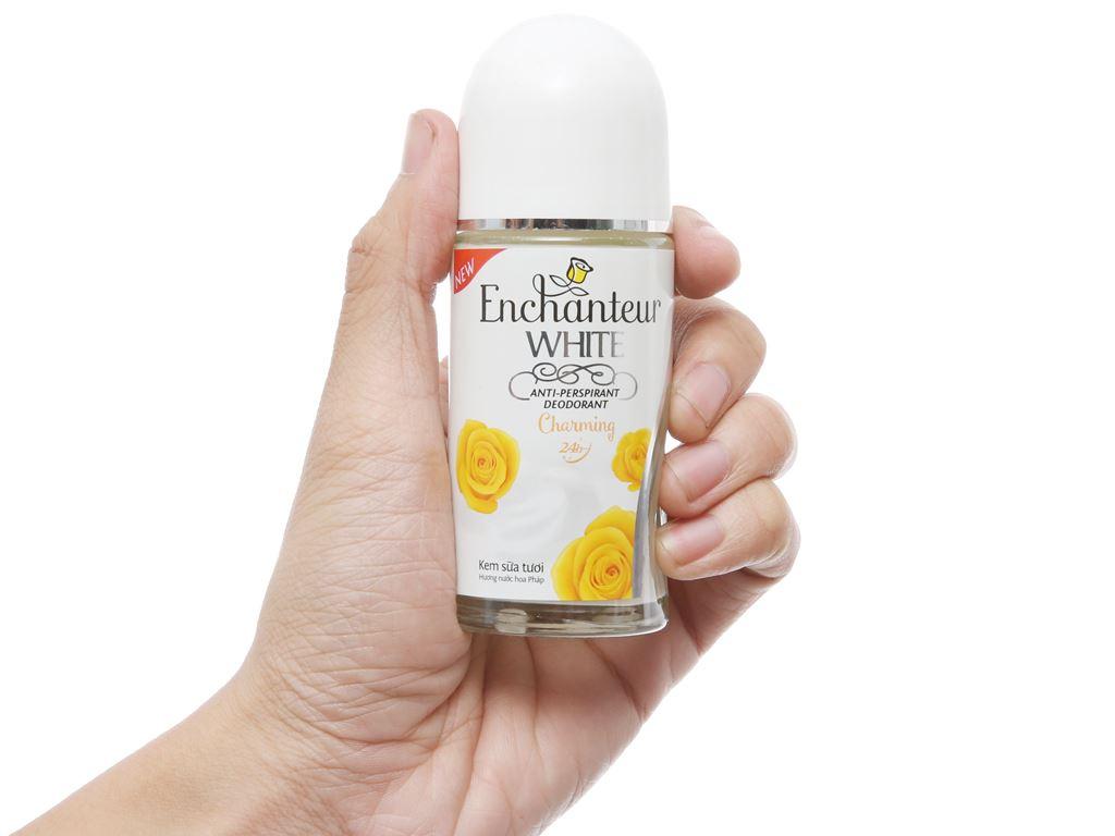 Lăn khử mùi Enchanteur White Charming hương nước hoa chai 50ml 5