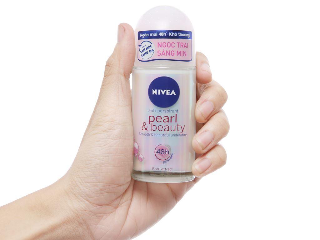 Lăn ngăn mùi Nivea ngọc trai đẹp quyến rũ 50ml 5