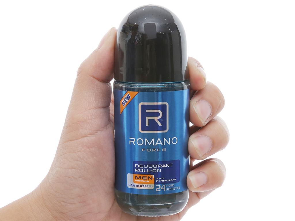 Lăn khử mùi Romano Force chai 50ml 3
