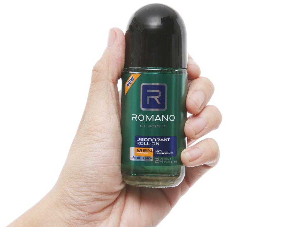 Lăn khử mùi Romano Classic 50ml 5