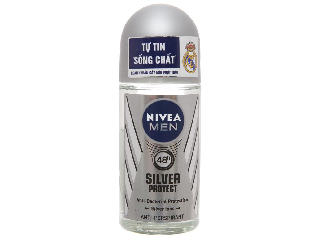 Lăn ngăn mùi Nivea phân tử bạc 50ml 2