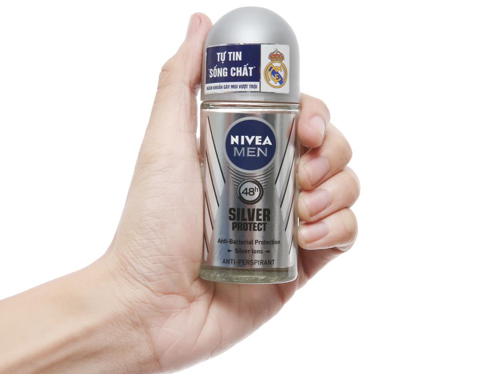 Lăn ngăn mùi Nivea phân tử bạc 50ml 5