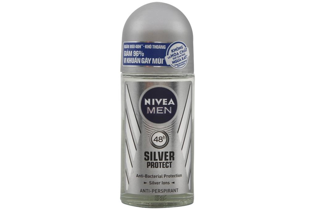 Lăn ngăn mùi Nivea Men Silver Protect 50ml