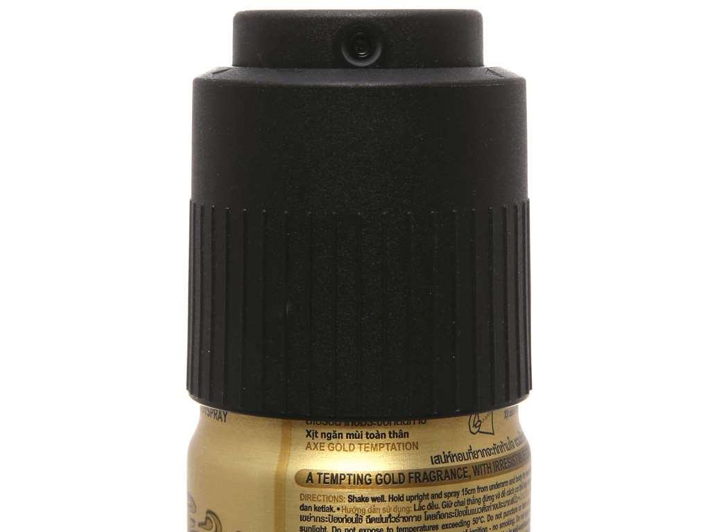 Xịt khử mùi AXE Gold Temptation 150ml 4