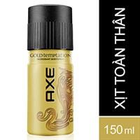 Xịt khử mùi AXE Gold Temptation hương Ngọt ngào chai 150ml